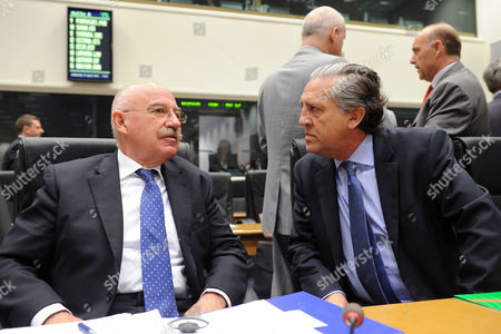 Janos Martonyi, Diego Lopez Garrido Hungary's Foreign Minister Janos Martonyi, left, talks with Spain's State Secretary for European Affairs Diego Lopez Garrido at the start of an EU General Affairs meeting in Luxembourg