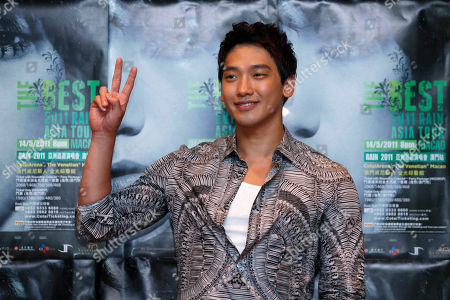 Rain, Jung Ji-hoon South Korea pop singer and movie star Jung Ji-Hoon, also known as Rain, poses during a news conference in Macau as Rain will hold his concert in Macau May 14