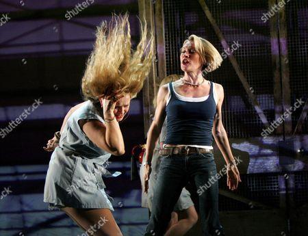 Nicole Faraday ( Shell Dockley ) and Caroline Head ( Nikki Wade )