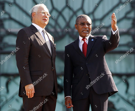 Pakalitha Mosisili, Najib Razak Lesotho's Prime Minister Pakalitha Mosisili, right, talks to his Malaysia's counterpart Najib Razak during an official welcoming ceremony in Putrajaya, Malaysia, . Mosisili is in Malaysia on a four-day official visit