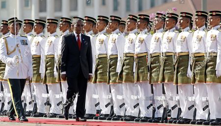 Pakalitha Mosisili Lesotho's Prime Minister Pakalitha Mosisili, second from left, inspects a guard of honor during an official welcoming ceremony in Putrajaya, Malaysia, . Mosisili is in Malaysia on a four-day official visit