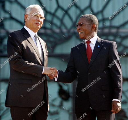 Pakalitha Mosisili, Najib Razak Lesotho's Prime Minister Pakalitha Mosisili, right, shakes hand with his Malaysia's counterpart Najib Razak during an official welcoming ceremony in Putrajaya, Malaysia, . Mosisili is in Malaysia on a four-day official visit