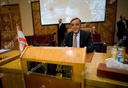 Editorial image of Mideast Egypt Arab League Libya, Cairo, Egypt
