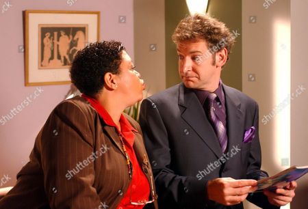 'Bernards Watch' - 1999 - Kay Purcell as Miss Savage and Martin Ball as Mr Steel.