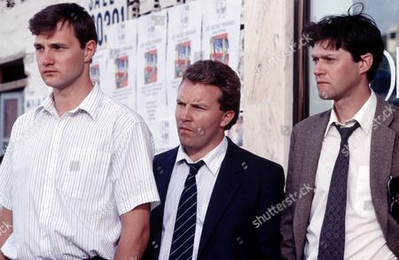 L-R.David Morrissey ,Glyn Grimstead and Wayne Foskett   in 'Framed' - 1992