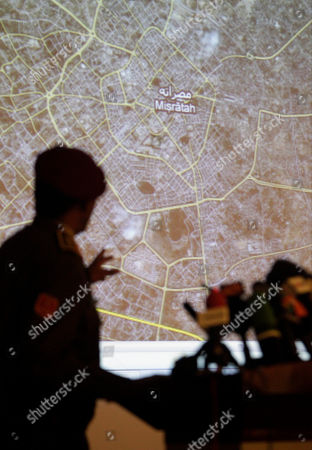 Saleh Abdullah Ibrahim Libyan Army Maj. Gen. Saleh Abdullah Ibrahim gestures during a press conference in Tripoli, Libya, . In the background is a map of the Libyan coastal town of Misrata, still in rebel hands, where Gadhafi's troops have intensified their long siege of the city in recent days