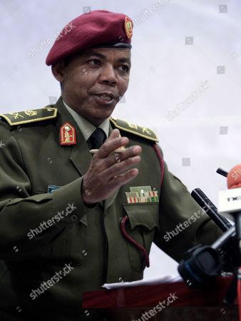 Saleh Abdullah Ibrahim Libyan Army Maj. Gen. Saleh Abdullah Ibrahim gestures during a press conference in Tripoli, Libya