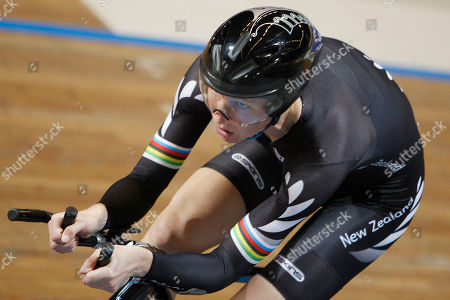Silver medallist Alison Shanks competes in the final of the women's individual pursuit event during the Track Cycling World Championships in Apeldoorn, central Netherlands