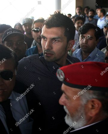 Zulqarnain Haider Pakistani wicketkeeper Zulqarnain Haider, center, is whisked away by security personals upon his arrival, as he ended his exile and returned home from Britain at Islamabad airport on in Pakistan. Haider fled to Britain from Dubai in November 2010 during a One Day cricket series saying he received death threats from match fixers
