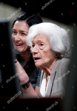 Ana Maria Matute, Angeles Gonzalez-Sinde Spanish author Ana Maria Matute, right reacts alongside Spain's Arts Minister Angeles Gonzalez-Sinde during a news conference at the National Museum in Madrid . Matute will be presented with Spain's 2010 Cervantes Prize, the Spanish-speaking world's top literary honor on Wednesday. Matute, 85, is ranked as one of the country's best post-Civil War writers. Her work often centers on that conflict, which took place from 1936-39