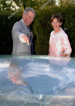 Prince Charles and the Duchess of Northumberland during a tour of The Alnwick Castle Gardens Restoration Project  The Prince, Patron of The Gardens officially opened phase two of the project where he met staff and volunteers. The garden houses Britain's only poison garden growing such plants as Cannabis and Coca, under lock and key.
