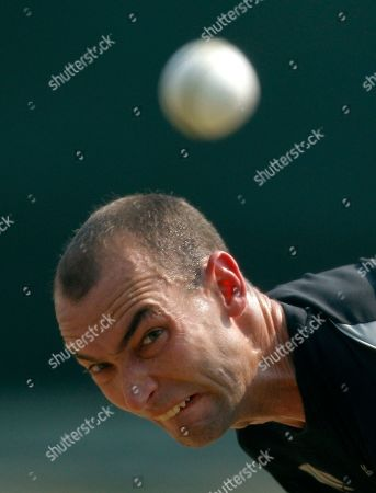 Andy McKay New Zealand's Andy McKay bowls in the nets during a training session in Colombo, Sri Lanka, . New Zealand will play a Cricket World Cup semifinal match against Sri Lanka on Tuesday