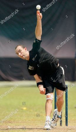 Andy McKay New Zealand's Andy McKay bowls during a practice session ahead of their semifinal Cricket World Cup match against Sri Lanka, in Colombo, Sri Lanka, . Injured paceman Kyle Mills has been ruled out of New Zealand's squad for the World Cup semifinals and been replaced by Andy McKay