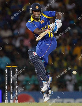 Angelo Mathews Sri Lanka's Angelo Mathews drives a delivery off New Zealand's bowler Andy McKay during the Cricket World Cup semifinal match between Sri Lanka and New Zealand in Colombo, Sri Lanka