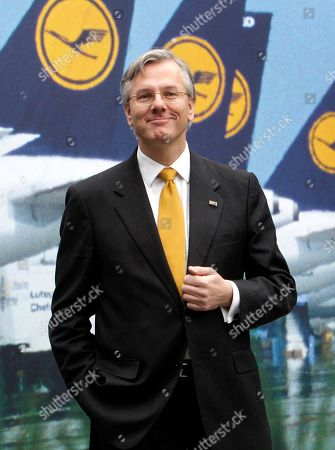 Christoph Franz CEO of German Lufthansa Christoph Franz poses in front of a poster showing Lufthansa aircrafts prior to the annual balance press conference in Frankfurt, Germany. Swiss drugmaker Roche Holding AG says, it will propose that Franz be elected its next board chairman. The Basel, Switzerland-based company says Franz is being nominated to succeed Franz Humer in a vote at the annual shareholders' meeting in early March