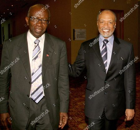 Mohamed bin Hammam, Austin Jack Warner Mohamed bin Hammam, right, of Qatar, chief of the Asian Football Confederation, accompanied by FIFA Vice President Austin Jack Warner, of Trinidad & Tobago, smiles during a meeting in Port of Spain, Trinidad & Tobago, . Hammam says he will stand against incumbent Sepp Blatter in the FIFA presidential election to be held in June