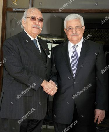 Mahmoud Abbas, Beji Caid Essebsi Tunisian President Fouad Mebazaa, left, greets Palestinian President Mahmoud Abbas prior to their meeting at the Presidential Palace in Carthage, outside Tunis, . Abbas is on a three-day official visit to Tunisia
