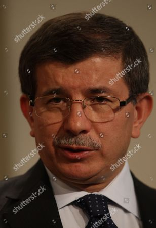 Ahmet Davutoglu Turkish Foreign Minister Ahmet Davutoglu speaks to the media after talks with Secretary General of NATO Anders Fogh Rasmussen in Ankara, Turkey, . Davutoglu said he will meet with Libyan government envoy Abdul-Ati al-Obeidi, who met with Greek officials in Athens Sunday. The envoy al-Obeidi, a former Libyan prime minister, told Greece's prime minister George Papandreou that the Libyan leader Moammar Gadhafi was seeking a way out of the crisis
