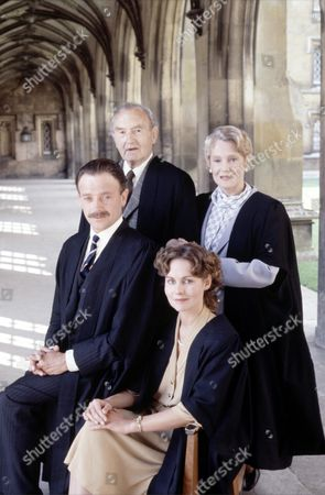Maurice Denham,Constance Cummings (Both standing), Michael Kitchen and Diana Hardcastle at Photo Call for 'Love Song' - 1985