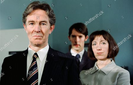 Stock Image of Christopher Ravenscroft (left) and Matthew Mills with Sasha Mitchell in 'Harm Done' - 2000