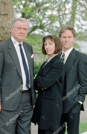 George Baker (left) and Christopher Ravenscroft with Sasha Mitchell in 'Harm Done' - 2000
