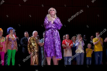 Eva-Maria Westbroek Anna Nicole played by actress Eva-Maria Westbroek takes a bow at the curtain call of Anna Nicole: An Opera in Two Acts, at the Royal Opera House in London