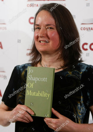 Jo Shapcott British author Jo Shapcott, the Costa Poetry Award winner and shortlisted for the Costa Book of the Year poses for the media holding her book ' Of Mutability ' at the awards ceremony in London