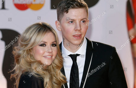 Professor Green, Candy McCulloch Professor Green, left, and Candy McCulloch arrive for the Brit Awards 2011 at The O2 Arena in London