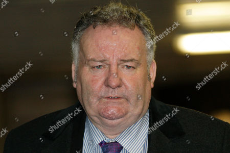 Stock Image of Jim Devine Former Labour Party Member of Parliament Jim Devine leaves Southwark Crown Court in London after his hearing on false accounting on parliamentary expenses, . Devine has been found guilty of dishonestly claiming parliamentary expenses