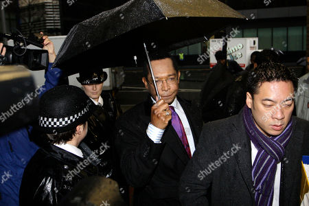 Stock Photo of Lord John Taylor Former Conservative party's peer, Lord John Taylor arrives at at Southwark Crown Court in London for a hearing on charges of false accounting on expenses, . Taylor denies the charges