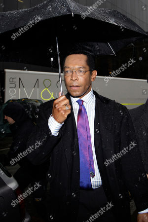 Stock Picture of Lord John Taylor Former Conservative party's peer, Lord John Taylor arrives at at Southwark Crown Court in London for a hearing on charges of false accounting on expenses, . Taylor denies the charges