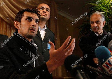 Zulqarnain Haider Pakistan wicketkeeper Zulqarnain Haider, left, gestures as he gives a press conference in London, . Haider was suspended by the Pakistan Cricket Board on Wednesday for abandoning the team in the United Arab Emirates before a match and fleeing to London, reportedly to seek asylum from threats linked to match-fixers