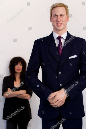 Prince William, Jennifer Rubell American artist Jennifer Rubell stands behind her life-sized wax statue of Prince William bearing a replica of the sapphire and diamond ring, made famous by Princess Diana, on his arm, in London. Visitors to the Stephen Friedman Gallery in Mayfair are invited to stand next to the statue, 'stepping into the shoes of Kate Middleton' by inserting their own fingers into the ring