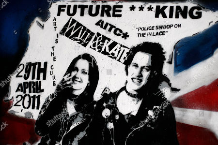 A newly unveiled graffiti portrait of Prince William and Kate Middleton by street artist Rich Simmons, in London, . It is probably not quite the wedding portrait Prince William and Kate Middleton had in mind. The soon-to-be-married couple have been made over as punk 'royalty' by an artist who has transformed them into the King and Queen of rockers, Sid Vicious and Nancy Spungen, and it was a Prince's Trust grant that helped artist Rich Simmons hone his skills which led to the punky version of the pair