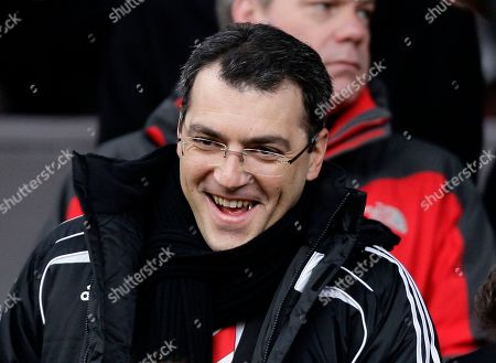 Damien Comolli Liverpool Director of Football Damien Comolli in the stand before the FA Cup third round soccer match against Manchester United at Old Trafford, Manchester, England
