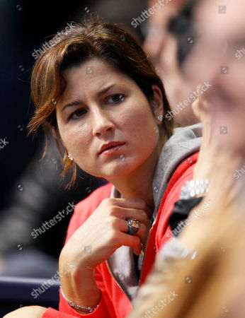 Mirka Vavrinec Mirka Vavrinec, wife of Switzerland's Roger Federer watches her husband play Britain's Andy Murray during a men's singles round robin match at the ATP World Tour Finals tennis tournament at the O2 Arena, in London
