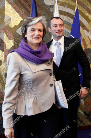 Astrid Thors Nikolay Mladenov Finland's Minister of Migration and European Affairs Astrid Thors, left, and the Bulgarian Foreign Minister Nikolay Mladenov pose for a picture, prior to their meeting in Sofia