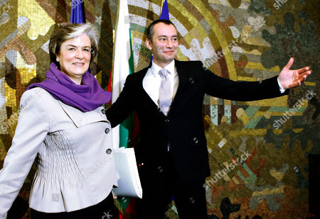 Astrid Thors Nikolay Mladenov Finland's Minister of Migration and European Affairs Astrid Thors, left, is welcomed by the Bulgarian Foreign Minister Nikolay Mladenov, right, prior to their meeting in Sofia