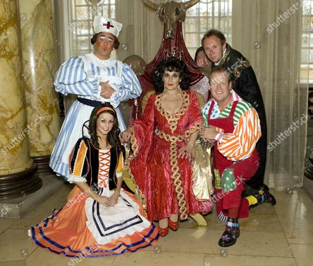 Adam Stafford (Nurse Gertie), Gemma Jones (Snow White), Lesley Joseph (Wicked Queen), Andy Jones (Muddles)  and Tony Wright (The Major)