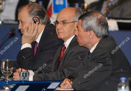 Youcef Yousfi Youcef Yousfi, Algeria's Minister of Energy and Mines, center, looks on during the Organization of the Petroleum Exporting Countries, OPEC's 158 th extraordinary meeting in Quito, Ecuador, . At left and right are unidentified delegates