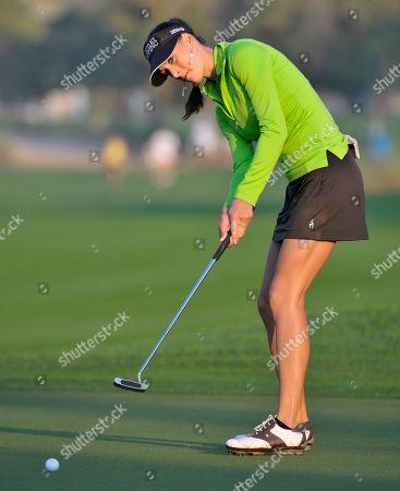 Maria Verchenova Maria Verchenova of Russia putts on the 10th green during the second round of the Dubai Ladies Masters golf tournament at the Emirates Golf Club in Dubai