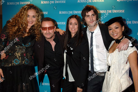 Dana Fuchs, Bono, Julie Taymor, Jim Sturgess and T.V. Carpio