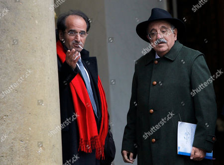 Marcello de Cecco, Jean Paul Fitoussi French Economist Jean Paul Fitoussi, left, and Italian Economist Marcello de Cecco walk out after a lunch with French President Nicolas Sarkozy at the Elysee Palace in Paris, France, as France hosts the annual conference on changing the world financial system