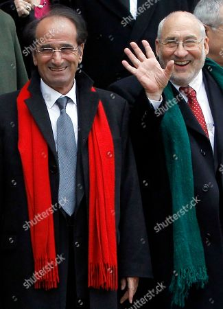 Joseph Stiglitz, Jean Paul Fitoussi French Economist Jean Paul Fitoussi, left, and Joseph Stiglitz, U.S. Nobel Prize-winning economist walk out after a lunch with French President Nicolas Sarkozy at the Elysee Palace in Paris, France, as France hosts the annual conference on changing the world financial system