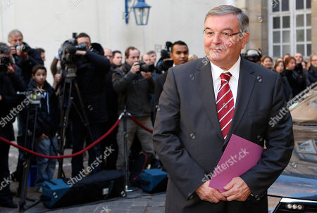 Michel Mercier Newly named Justice Minister, Michel Mercier, arrives for the handover ceremony with Outgoing France's Justice Minister, Michele Alliot-Marie in Paris, . President Nicolas Sarkozy pulled together a new Cabinet on Sunday night with a strong conservative thrust that appears designed to boost the widely disliked president's chances for a second term in 2012