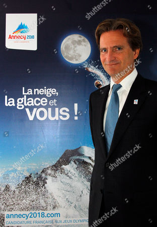 Charles Beigbeder Charles Beigbeder poses next to 2018 Winter Games Annecy's bid poster during an interview with the Asssociated Press in Paris, . Beigbeder, who took over as leader of after the resignation of former bid chief Edgar Grospiron, told The Associated Press he hopes to bring in more sponsors and financial backing to boost the bid in the final six months of the campaign