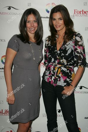Stock Picture of Moira Forbes and Cindy Crawford