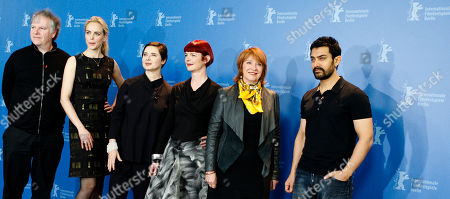 Isabella Rossellini, Jan Chapman, Nina Hoss, Aamir Khan, Guy Maddin, Sandy Powell The Internationale Jury of the 61st International Film Festival Berlinale pose for a photo prior to the Jury's Dinner at the eve of the Berlinale at a Hotel in in Berlin on . From left Isabella Rossellini, Jan Chapman, Nina Hoss, Aamir Khan, Guy Maddin, Sandy Powell
