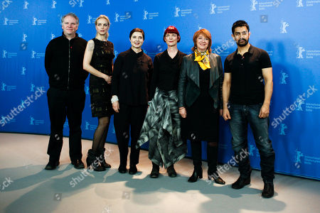 Isabella Rossellini, Jan Chapman, Nina Hoss, Aamir Khan, Guy Maddin, Sandy Powell The International Jury of the 61st International Film Festival Berlinale pose during a photo-call at the opening day of the Berlinale in Berlin on . From left: Guy Maddin, Nina Hoss, Isabella Rossellini, Sandy Powell, Jan Chapman and Aamir Khan