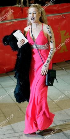 Birgit Stein Actress Birgit Stein arrives for the opening of the 61st International Film Festival Berlinale in Berlin, Germany, . The Berlinale take place at the German capital from Feb. 10 until Feb. 20, 2011. Slogan on the arm reads 'No Mercy